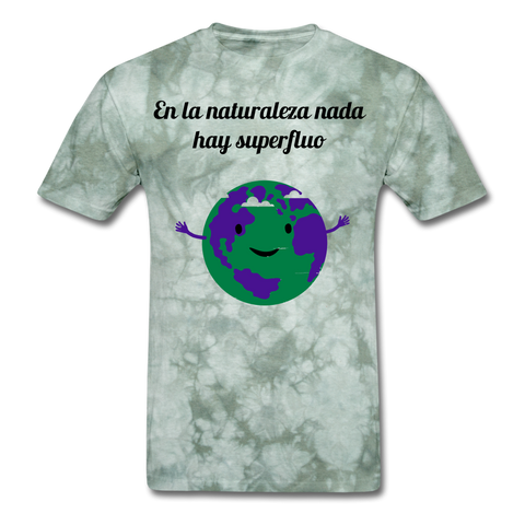 Image of Men's T-Shirt - military green tie dye