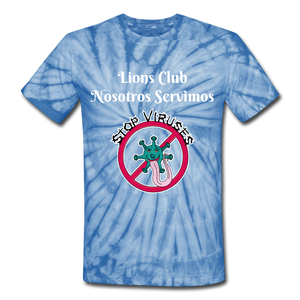 Camiseta Lions Club Stop Viruses 2 - spider baby blue