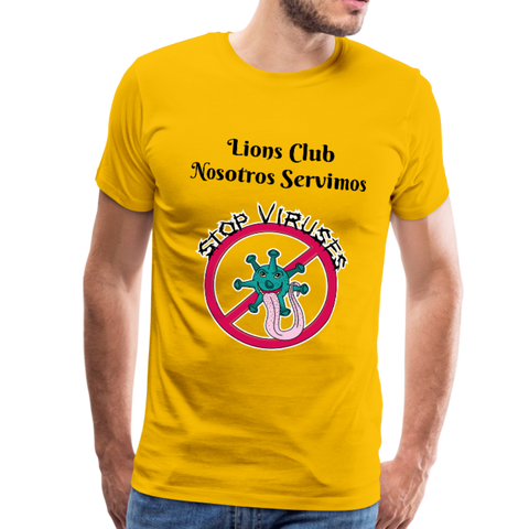 Camiseta Lions Club Stop Viruses - sun yellow