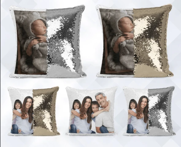 Personalized Photo Magic Pillow Cushion Cover With Filler
