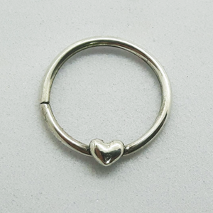 Open image in slideshow, Silver Daith/Septum piercing jewellery with heart detail