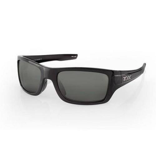 TONIC Shades Trakker Shiny Black Photochromic Grey
