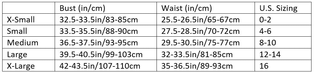 Womens Size Guide