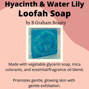 Soap - Hyacinth & Water Lily Loofah