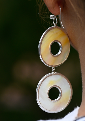 Double Round Earrings