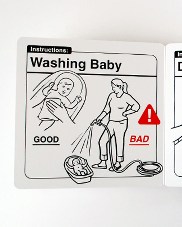 Baby Gift Set | Safe Baby Handling Tips Baby Book with Playing with Baby Baby Bodysuit