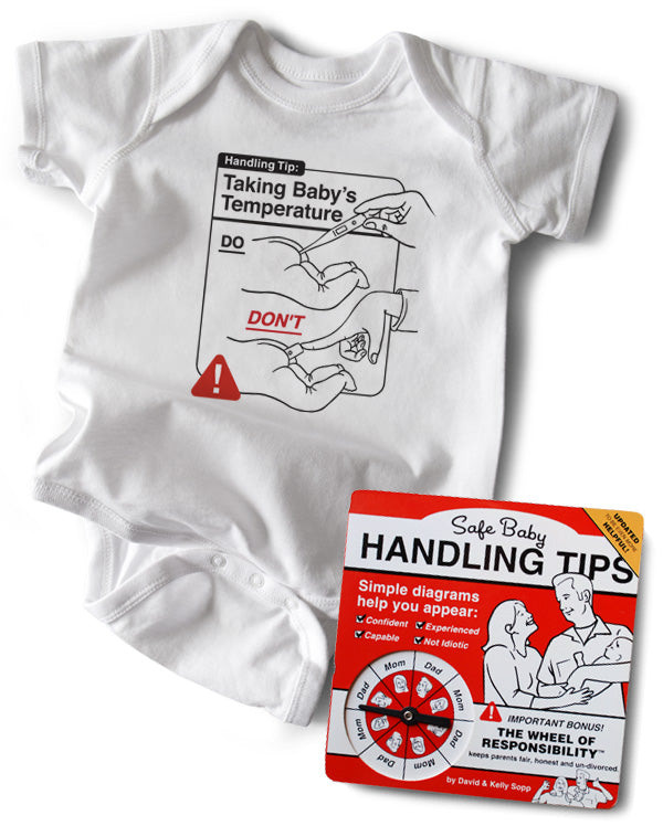 Baby Gift Set | Safe Baby Handling Tips Baby Book with Baby's Temperature Baby Bodysuit