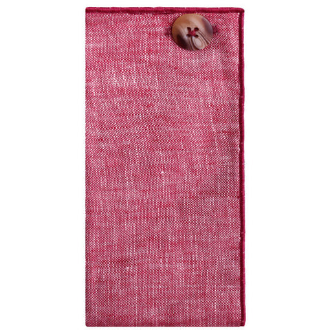 Maroon Linen Pocket Square - The Detailed Male