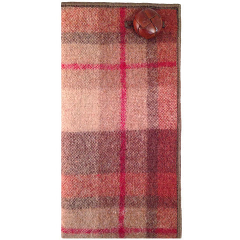 Brown, Tan and Red Plaid Pocket Square - The Detailed Male