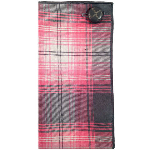 Gray, Pink and White Plaid Pocket Square - The Detailed Male