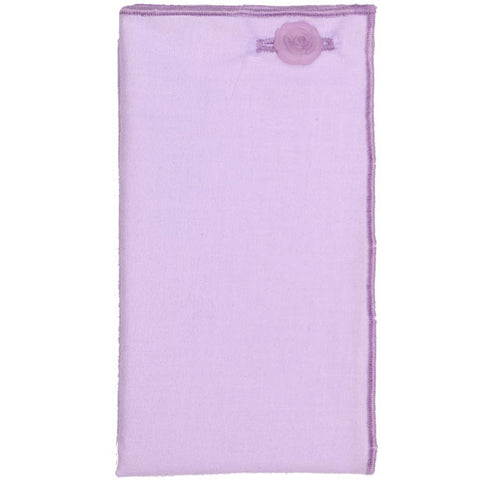 Light Purple Pocket Square with Purple Rose Button - The Detailed Male