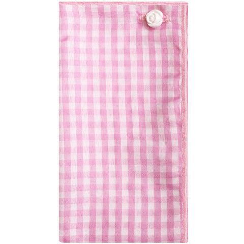 Pink and White Gingham Pocket Square - The Detailed Male