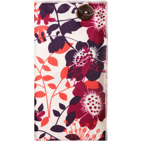 Cream and Multi Colored Floral Print Pocket Square - The Detailed Male