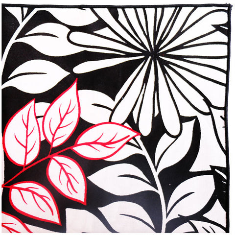 Black white and red floral print pocket square with black button black white and red floral print pocket square with black button the detailed male mightylinksfo Image collections