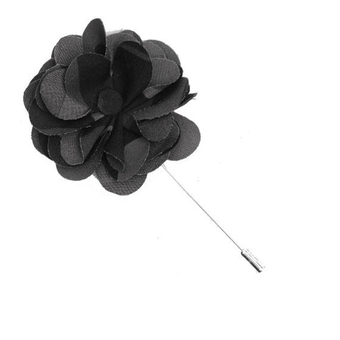 Black and Gray Camo Flower Lapel Pin - The Detailed Male