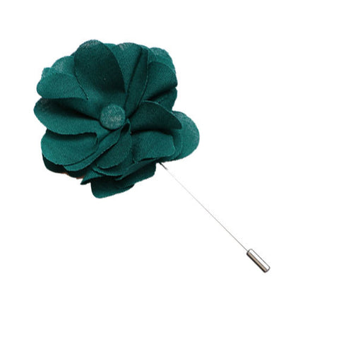 Green Lapel Flower Pin - The Detailed Male