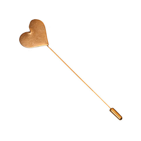 Gold Heart Button Lapel Pin - The Detailed Male