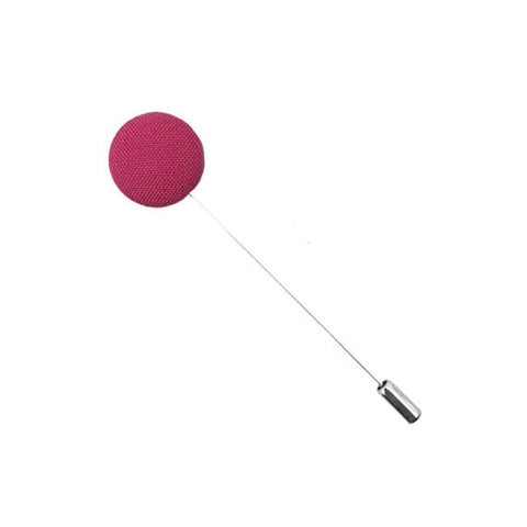 Pink Cotton Button Lapel Pin - The Detailed Male