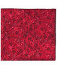 Maroon and Red Floral Print Pocket Square - The Detailed Male