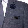 Black and Purple Tweed Lapel Flower Pin - The Detailed Male