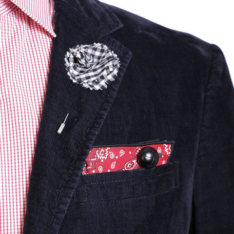 Black and white gingham plaid flower lapel pin by the detailed male black and white gingham plaid flower lapel pin the detailed male mightylinksfo