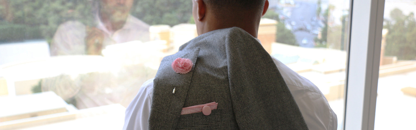 Pink Pocket Square Pink Lapel Flower Pin The Detailed Male
