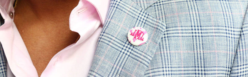 Monogram Button Lapel Pin The Detailed Male