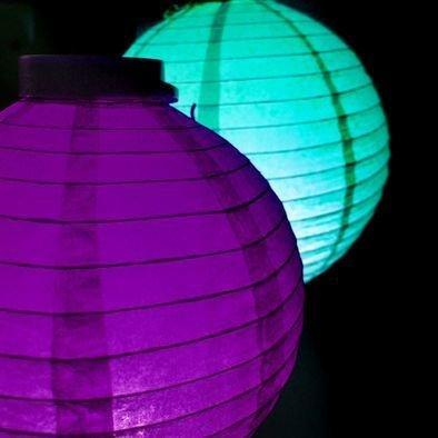 Battery Operated LED Nylon Lanterns