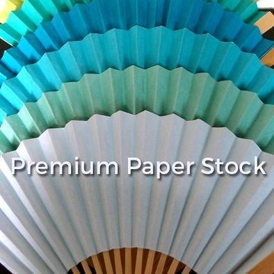 Premium Paper Solid Colored Folding Hand Fans