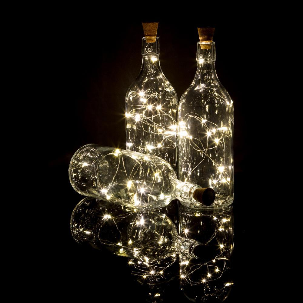 Cork Wine Bottle Lights - Solar & Battery Powered