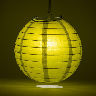 "10"" Pear Round Paper Lantern, Even Ribbing, Chinese Hanging Wedding & Party Decoration"