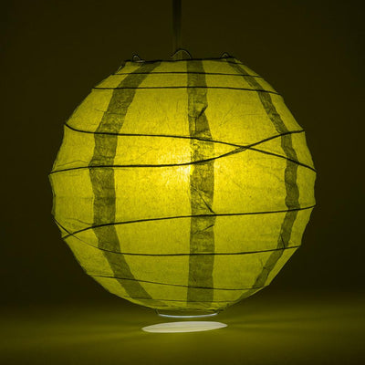 "16"" Pear Round Paper Lantern, Crisscross Ribbing, Chinese Hanging Wedding & Party Decoration - AsianImportStore.com - B2B Wholesale Lighting and Decor"