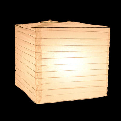 "10"" White Square Shaped Paper Lantern"