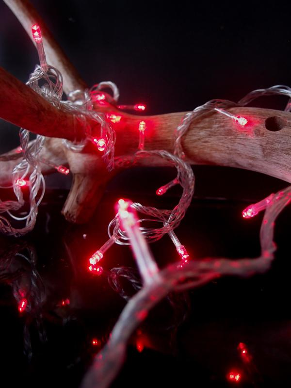 BLOWOUT 100 Indoor/Dry Outdoor Red LED Mini String Lights, 28FT Clear Cord, Multi-flicker Modes