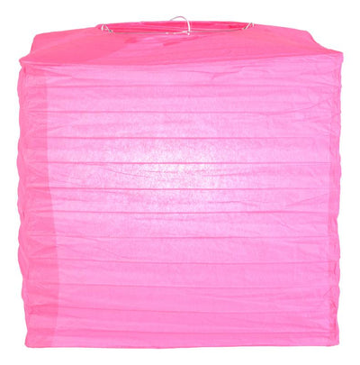 "10"" Fuchsia Square Shaped Paper Lantern"