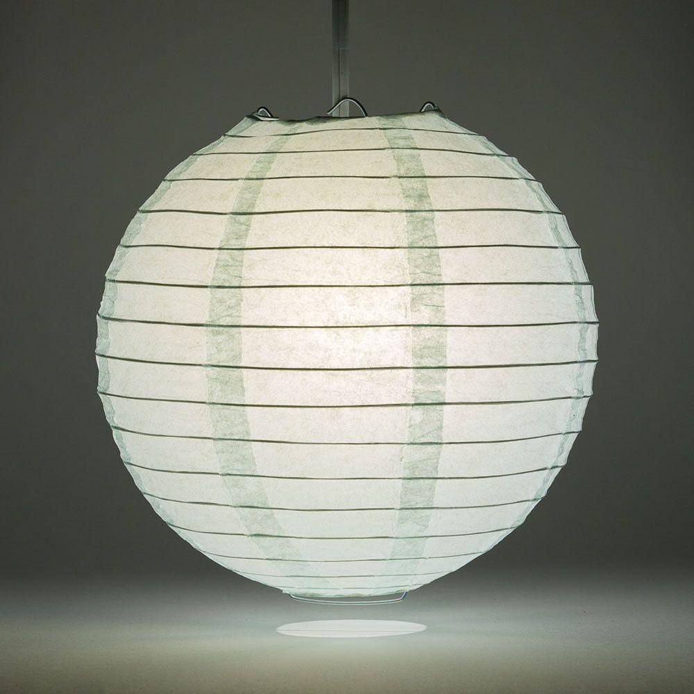 "10"" Arctic Spa Blue Round Paper Lantern, Even Ribbing, Chinese Hanging Wedding & Party Decoration - AsianImportStore.com - B2B Wholesale Lighting and Decor"