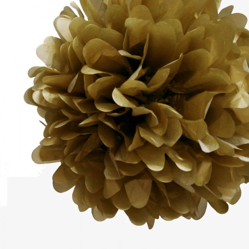"EZ-Fluff 12"" Copper Tissue Paper Pom Poms Flowers Balls, Hanging Decorations (100 PACK) - AsianImportStore.com - B2B Wholesale Lighting and Décor"