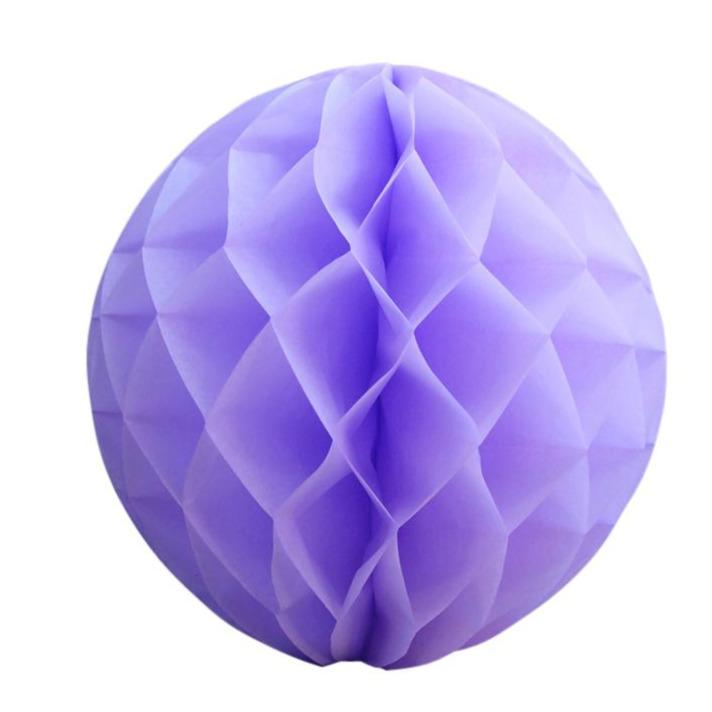 "BLOWOUT 12"" Lavender Round Tissue Lantern, Honeycomb Ball, Hanging (3 PACK)"