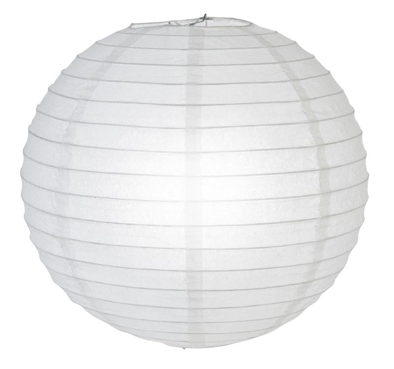 "12"" White Glitter Round Paper Lantern, Chinese Hanging Wedding & Party Decoration"