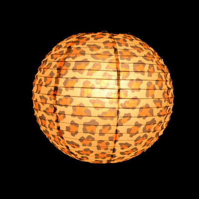 "14"" Cheetah Print Paper Lantern - AsianImportStore.com - B2B Wholesale Lighting and Decor"