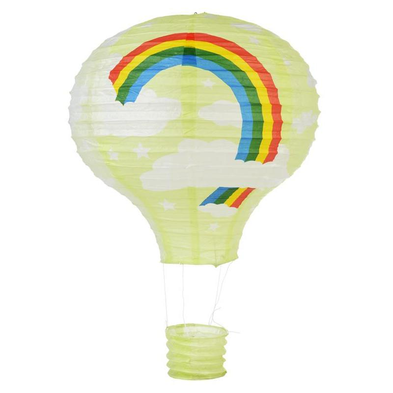 BLOWOUT Light Lime Rainbow Hot Air Balloon Paper Lantern