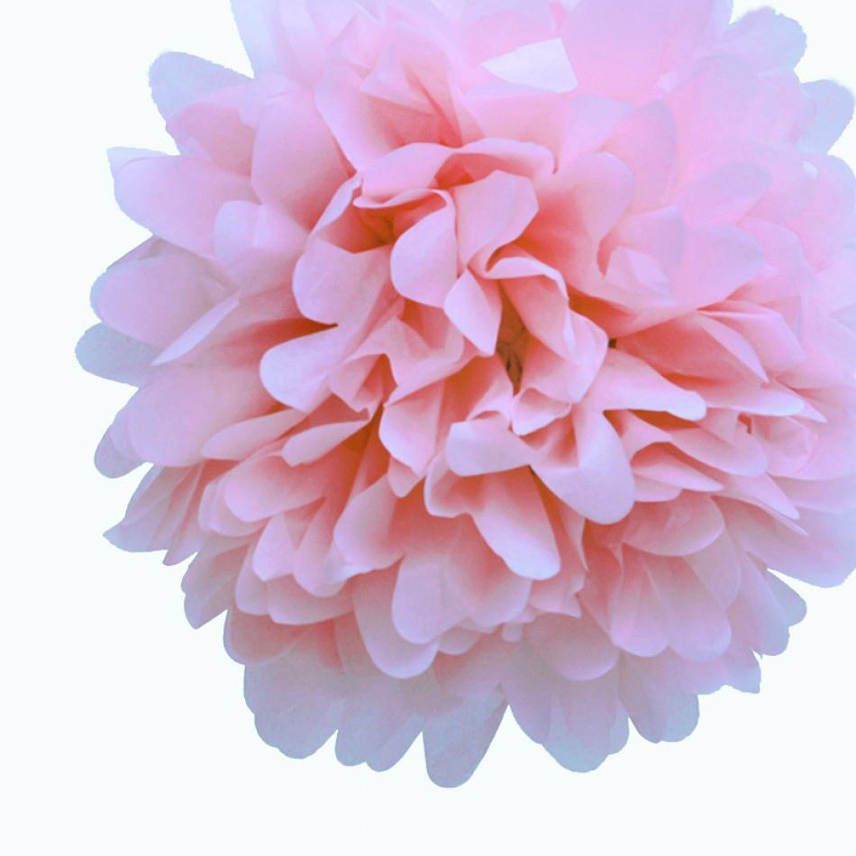 "EZ-Fluff 16"" Light Pink Tissue Paper Pom Poms Flowers Balls, Decorations (100 PACK) - AsianImportStore.com - B2B Wholesale Lighting and Décor"