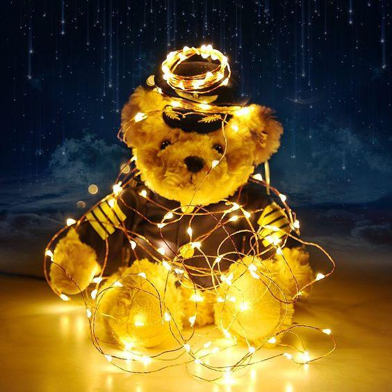 7.5 FT | 20 LED Battery Operated Warm White Fairy String Lights With Copper Wire - AsianImportStore.com - B2B Wholesale Lighting and Decor