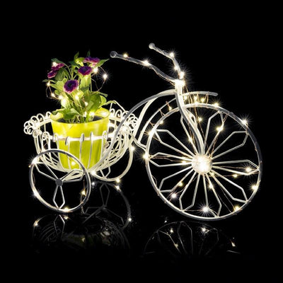 7.5 FT | 20 LED Battery Operated Cool White Fairy String Lights With Copper Wire