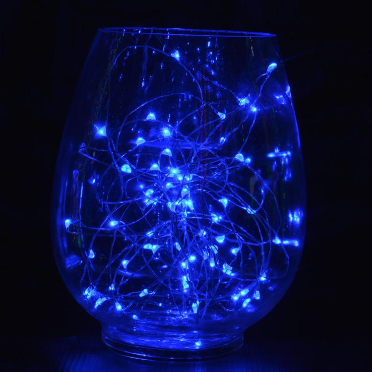 7.5 FT | 20 LED Weatherproof Battery Operated Copper Wire Blue Fairy String Lights With Timer - AsianImportStore.com - B2B Wholesale Lighting and Decor