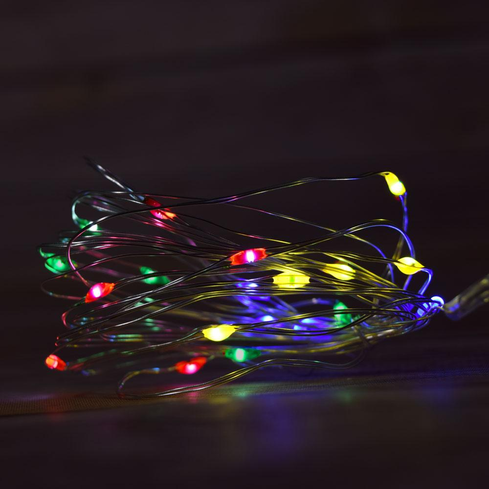 7.5 FT | 20 LED Weatherproof Battery Operated Copper Wire RGB Multi-color LED Fairy String Lights With Timer - AsianImportStore.com - B2B Wholesale Lighting and Decor