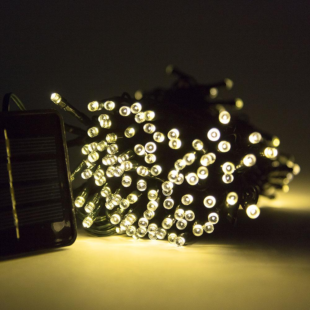 200-LED Solar Mini Waterproof String Light for Patio, Pergola, Outdoor Garden