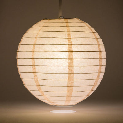 "20"" Rose Quartz Pink Round Paper Lantern, Even Ribbing, Chinese Hanging Decoration for Weddings and Parties"