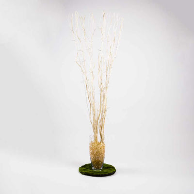 "48"" LED Light Up Willow Branches, Light Tan Floral Decoration (Battery Operated)"
