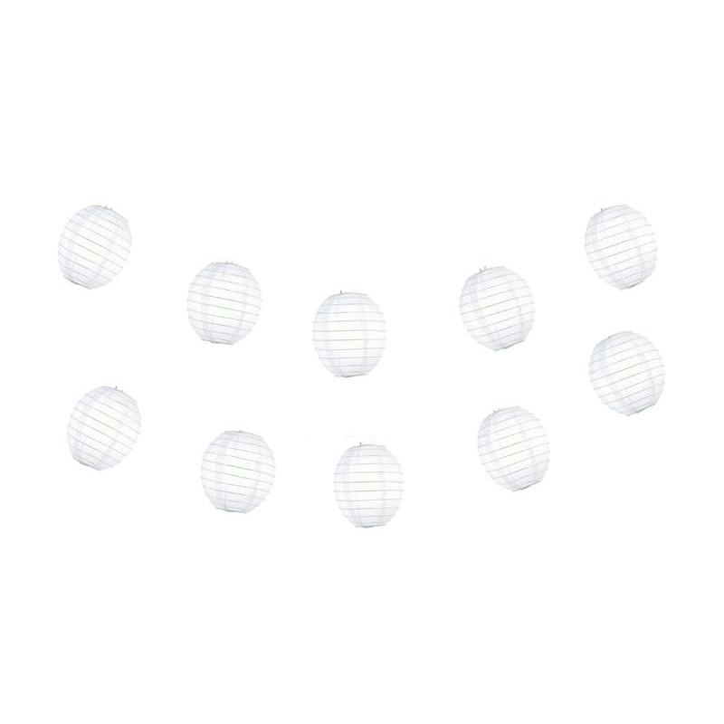 4 Inch White Kawaii Unique Shaped Paper Lantern (10-PACK) - AsianImportStore.com - B2B Wholesale Lighting and Decor